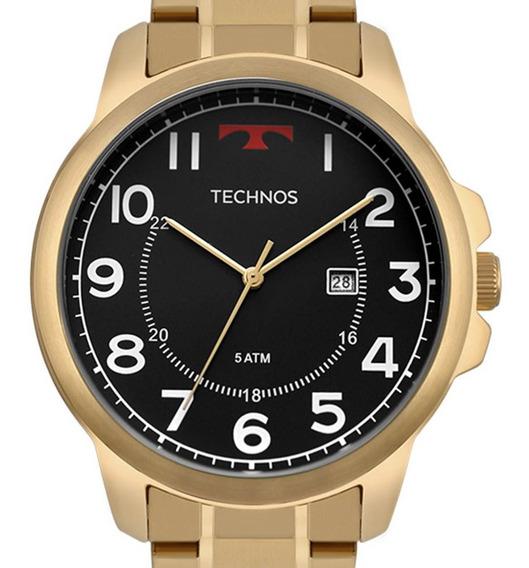 Relógio Technos Masculino Dourado Steel 2115mpa/4p + Nfe