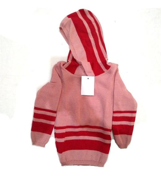 Blusa Lã Infantil Com Capuz - Unissex - Cores Diversas
