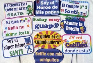 Carteles, Letreros Habladores, Props Para Fiestas O Eventos