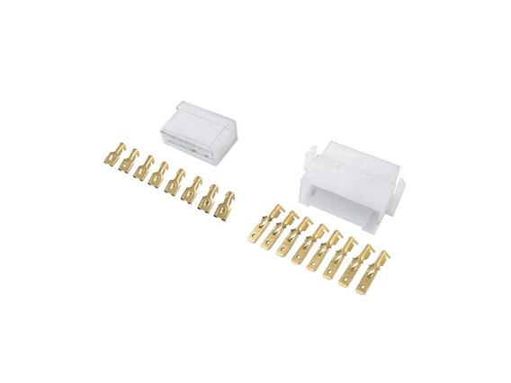 Conector 8 Vias C/ Terminais - Pct C/ 10