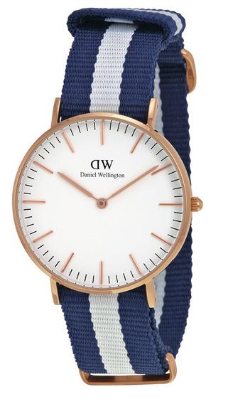 Reloj Daniel Wellington Glasgow Acero Nylon Mujer 0503dw