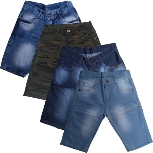 Kit 4 Bermudas Jeans Masculinas Promoção Especial