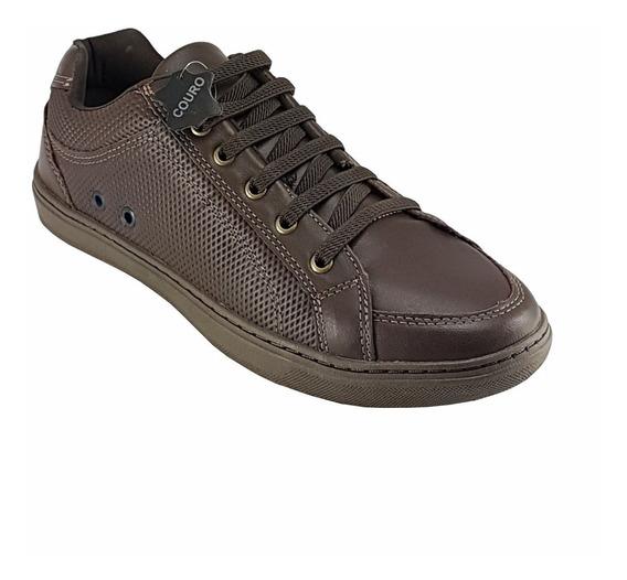 Sapato Sapatenis Masculino Casual Couro Wonder