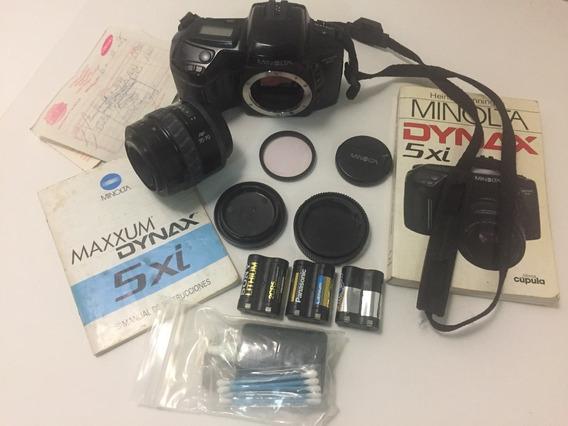 Câmera Minolta 5xi - Corpo E Lente Af 35-70 - Analógica