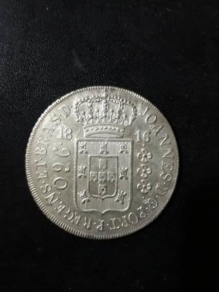Moeda Antiga 960 Réis 1816 Rio, Prata, Patacão 12xs/juros