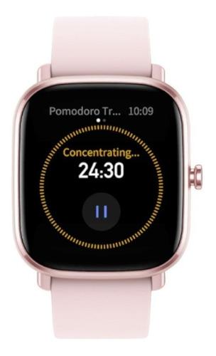"Imagen 1 de 3 de Smartwatch Amazfit Fashion GTS 2 Mini 1.55"" caja de  aleación de aluminio malla  flamingo pink de  silicona A2018"