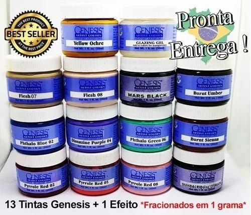 Kit Tinta Reborn Genesis 13 Cores + 1 Efeito Verniz * 1g *