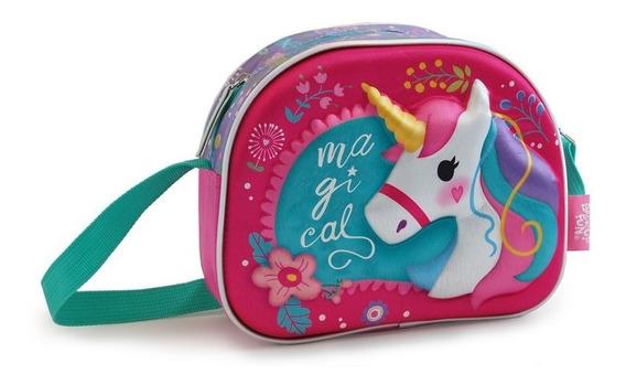 Cartera Carterita Infantil Unicornio Termoformada 3d Niñas