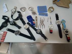14 Relógios Novos + Ferramentas Para Relógios
