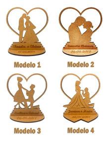 350x Lembrancinha Casamento Lbc-24 Modelos - Mdf Crú 10cm