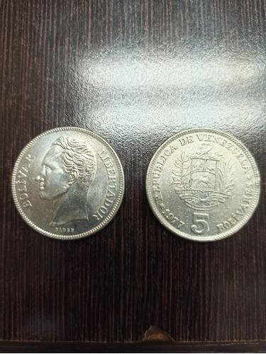 Monedas De 5bs Año 1977