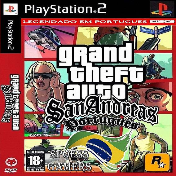 Gta San Andreas Pt-br Ps2 Português Grand Theft Auto Patch M