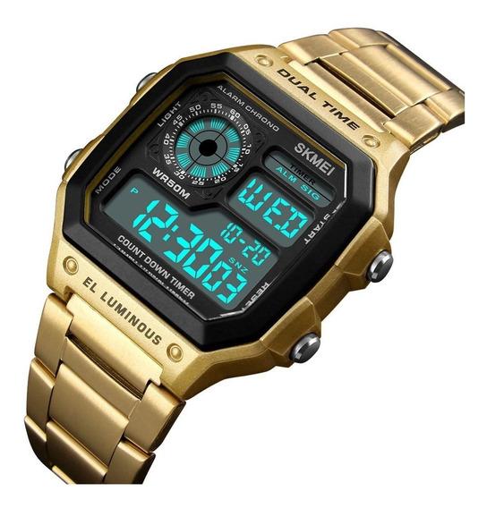 Relógio Skmei De Aço Inoxidável Digital Aço Inoxidável