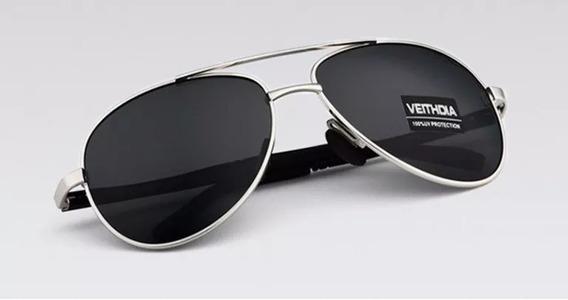 Óculos Sol Aviador Masculino Feminino Polarizado Veithdia