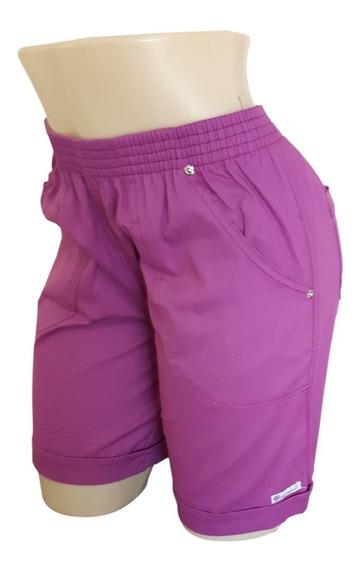 Bermuda Shorts Feminino Elástico 38 40 42 44 46 48