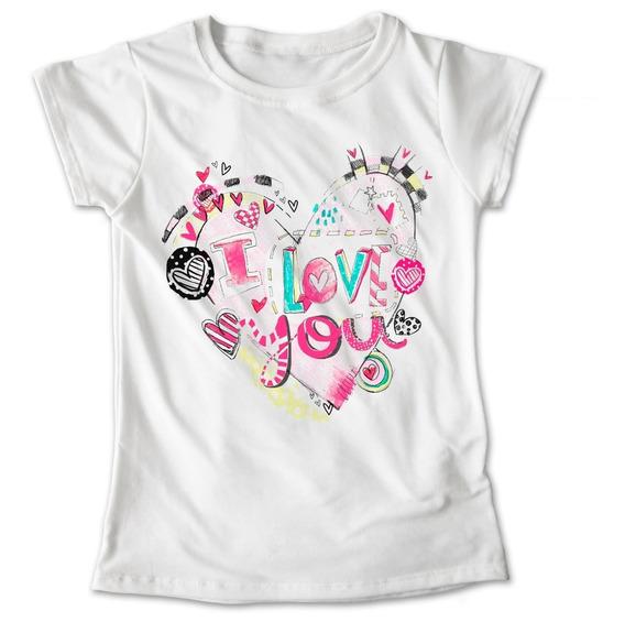 Blusa Corazón I Love You Colores Playera Estampado #584