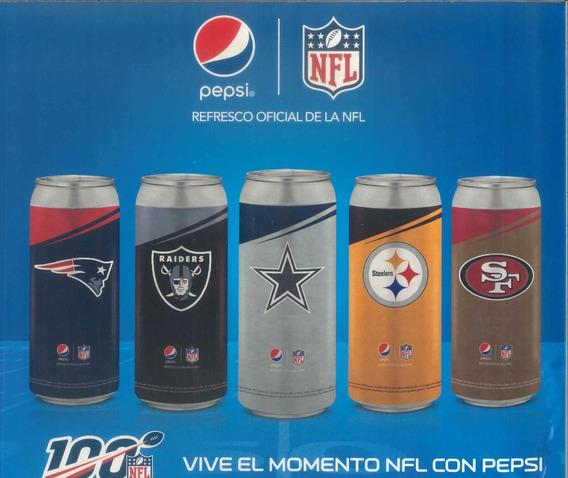 Nfl Vaso En Forma De Lata Patriotas Coleccionable Pepsi
