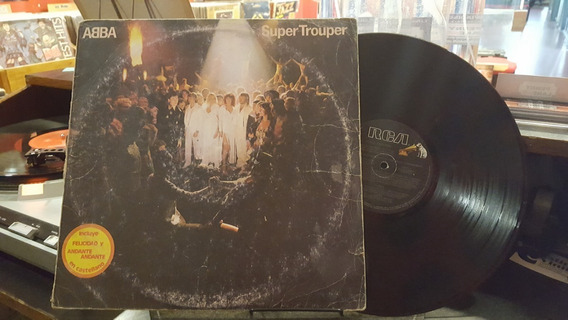 Abba Super Trouper Lp Disco Vinilo Vg+