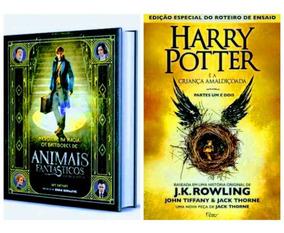 Livro Animais Fantásticos + Harry Livro 8