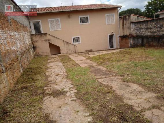 Casa Com 4 Dormitórios Para Alugar, 130 M² Por R$ 1.500,00/mês - Vila Progresso - Campinas/sp - Ca0680