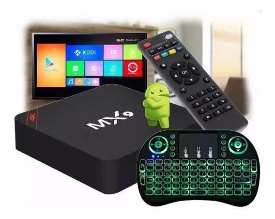 Conversor De Tv Em Smart Mx9 3gb + Mini Teclado De Led