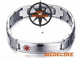 Pulseira Masculina Simbolo Da Medicina.