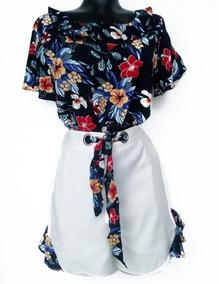 Conjunto Short Y Blusa Mujer Tumblr Moda Juvenil