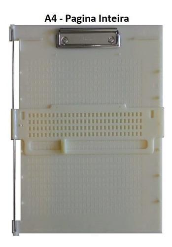 Imagem 1 de 4 de Reglete Pagina Inteira A4 Multifuncional Escrita Braille
