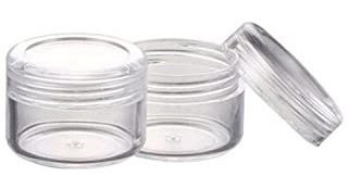 Topwel 1 1/4 Inch X Height: 3/4 Inch 100 Pcs Empty Clear Pl