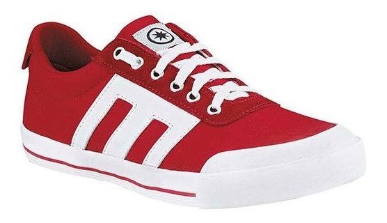 Playing Sneaker Deportivo Textil Niño Rojo Rayas C49212 Udt