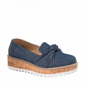 Zapatos Casuales Vi Line Dama 1503 Azules Con Plataforma