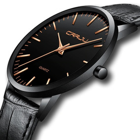 Relógio Masculino Casual Ultra Fino De Luxo Analógico Preto