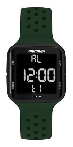 Relógio Mormaii Wave Masculino Feminino Digital Preto Verde