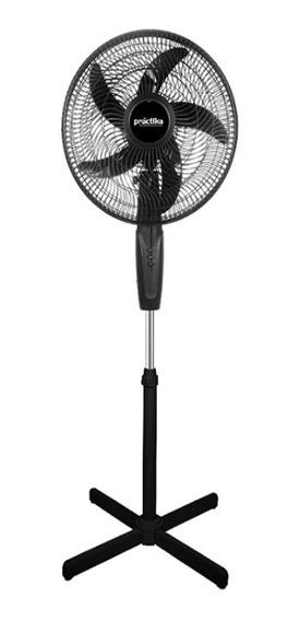 Ventilador De Pedestal 16 PuLG 3v Negro Practika