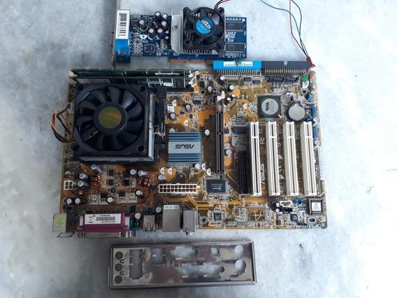 Placa Mãe Amd Athon(tm)64 Processador 2800+2gb Mem Ram+placa