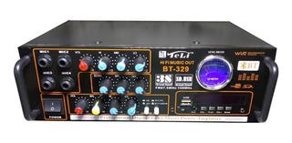 Amplificador Potencia 80w Con Bluetooth - Karaoke - Bt 329
