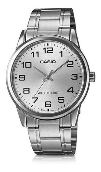 Relógio Casio Masculino Prata Analógico Original Garantia
