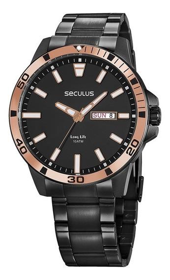 Relógio Masculino Seculus 20795gpsvpa1 Preto
