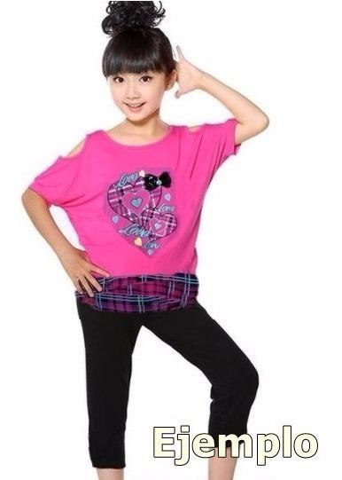 Oferta Conjunto Rosa Para Niña T-8 Leggins Nuevo Etiquetas