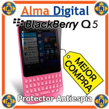 2x Lamina Protector Pantalla Antiespia Blackberry Q5