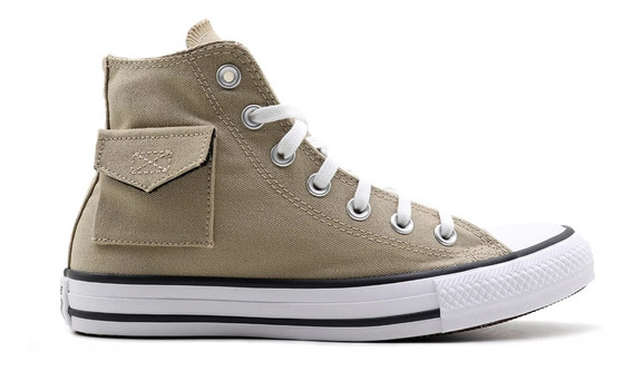 Tênis All Star Converse Bota Pocket Caqui - Original