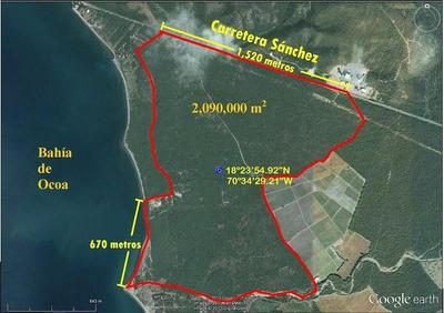 Bahia De Ocoa, 2,090,000 Mts2 Ideal Para Proyecto Turistico