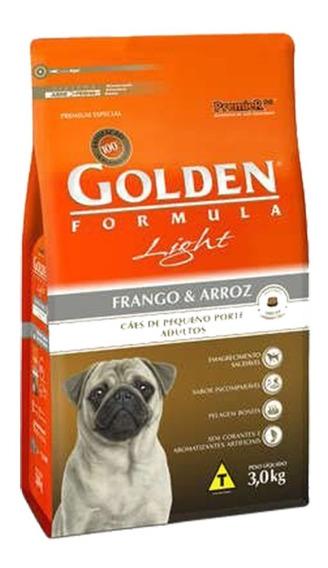 Golden Cães Light Raças Pequenas Frango E Arroz 3kg