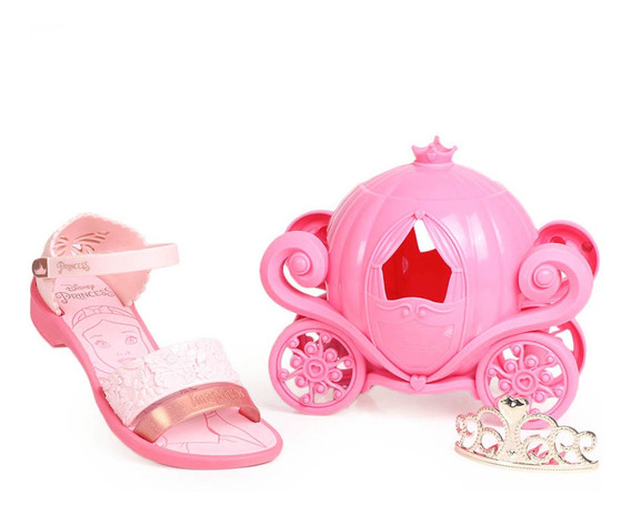 Sandália Rasteira Infantil Grendene Princesas