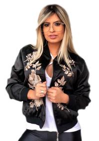 Jaqueta Bomber Florida Feminina Por Tamanho P M G E Gg