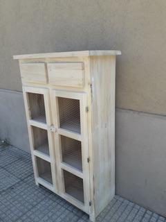 Mueble Organizador Despensero Cocina Verdulero Estilo Campo