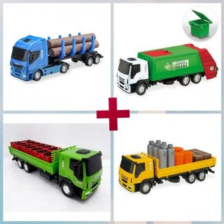Caminhão Brinquedo Iveco 4 Un (promoção)