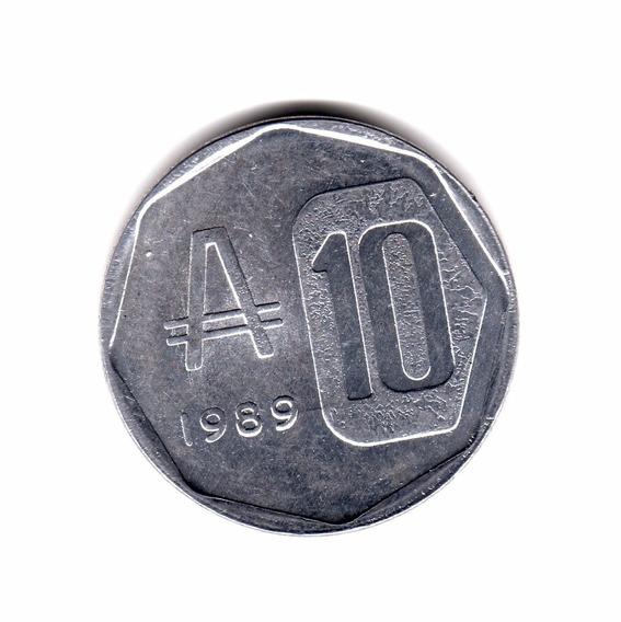 Argentina Moneda 10 Australes 1989 Sin Circular Cj#378.1