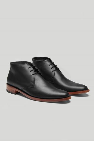Bota Zapato Hombre De Cuero De Vestir Con Cordones