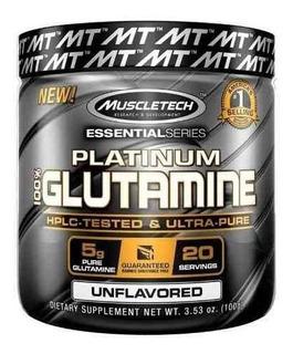 Platinum 100% Glutamine Muscletech 100g Glutamina Pura